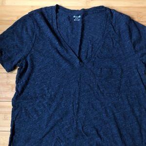 Madewell Navy Blue V-Neck T shirt